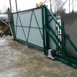 Ворота откатные с автоматикой