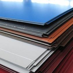 Гладкий лист с односторонним полимерным покрытием .