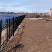 Забор кованный с пиками