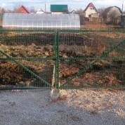 """Забор из сварной сетки """"Гиттер 3D"""" зеленого цвета"""