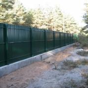 Забор из профлиста RAL6005 (зеленый)