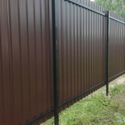 """Комбинированный забор из сварной сетки """"Гиттер 3D"""" и профлиста"""