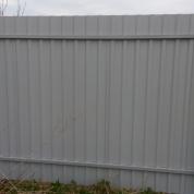 Забор из профлиста серый