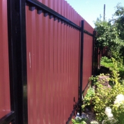 Забор из профлиста (двухсторонний)