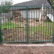 Установка ворот решетка