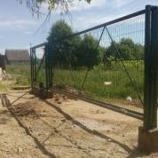 Откатные ворота из сварной сетки с автоматикой