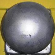 Металлические заглушки на столбы с шаром без покрытия