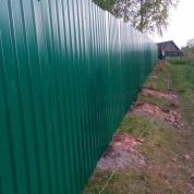 Забор из профлиста 73 метра.