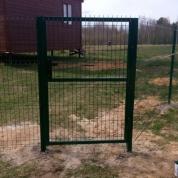 """Забор из сварной сетки """"Гиттер 3D"""" с воротами и двумя калитками"""