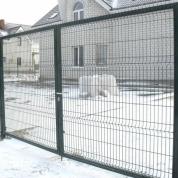 Установка ворот из сварной сетки