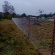 Забор из сетки Рабица с воротами и калиткой