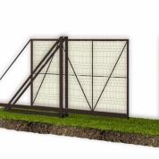 Откатные ворота из сварной сетки